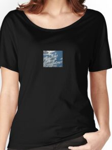 Blue Sky Clouds Beautiful Duvet Bed Cover Women's Relaxed Fit T-Shirt