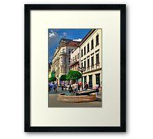 Only pedestrians Framed Print