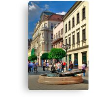 Only pedestrians Canvas Print