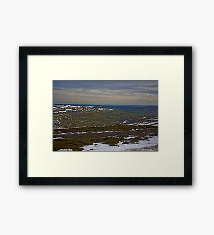 The Last of the Snow Framed Print
