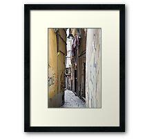 alleys  of Genoa Framed Print