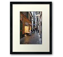 Alleys of Genoa 3 Framed Print
