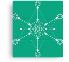 Transformation Green Canvas Print