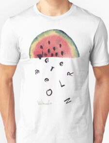 Watercolor illustration of watermelon on texture paper. Vector illustration. T-Shirt
