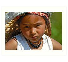 Nepali girl (III) Art Print