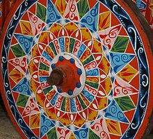 Ox Cart Wheel detail, Costa Rica by Guy C. André Tschiderer