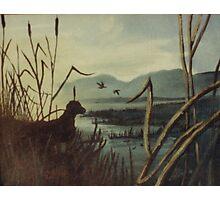 Morning Hunt-acrylic painting Photographic Print