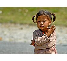 Nepali little girl Photographic Print