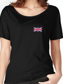 Flag of Great Britain - UK Flag Duvet Cover Sticker and Shirt Women's Relaxed Fit T-Shirt