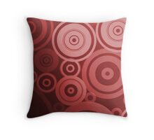 Water Ripples (red) Throw Pillow