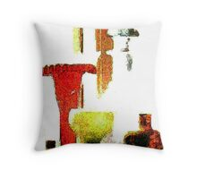 Mother's Window Sill - Abstracted Throw Pillow