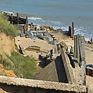 Collapsed concrete ramp at Happisburgh Beach Norfolk by johnny2sheds