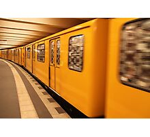 Gelb Bahn Photographic Print