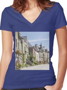 One Summer's Day Women's Fitted V-Neck T-Shirt