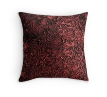 Peeling Paint (red) Throw Pillow