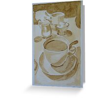 Coffee1 Greeting Card