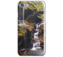 Rainbow falls cascade at Watkins Glenn state park iPhone Case/Skin