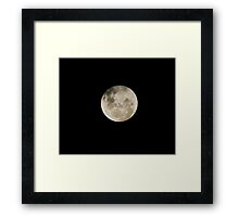Moon Tonight 28.1.2010 Framed Print
