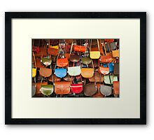 Bags, bags and more bags Framed Print