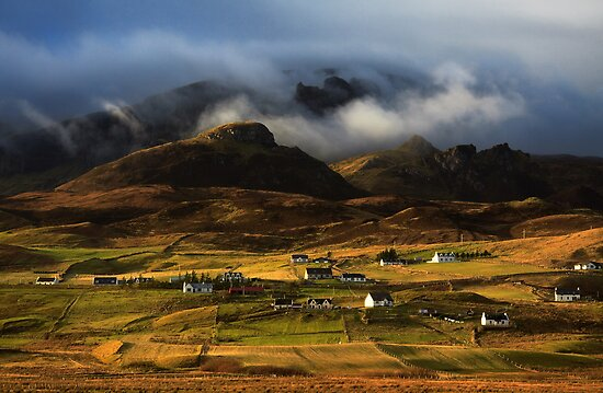 Staffin in Winter Light. Isle of Skye. Scotland. by photosecosse /barbara jones