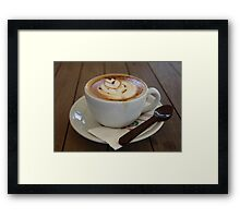 Americano Coffee with Tulip Design Framed Print