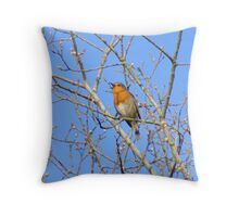 Sing from the highest tree Throw Pillow