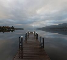 Lake George and the Adirondack Mountains at sunrise by Catuncia
