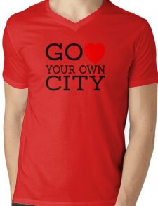 Go love (heart) your own city Mens V-Neck T-Shirt