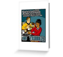 All about the BASS, no Tribbles. Greeting Card
