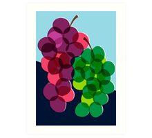Retro Grapes Art Print