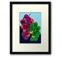 Retro Grapes Framed Print