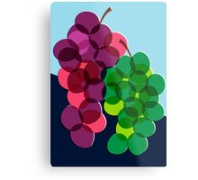 Retro Grapes Metal Print