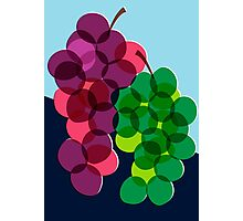 Retro Grapes Photographic Print