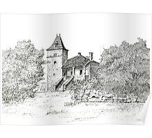 French Farmhouse Poster
