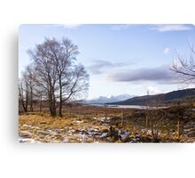 Loch Laiden And The Black Mount Canvas Print