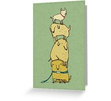 Puppy Totem Greeting Card