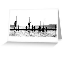 Putting in the Dock Greeting Card