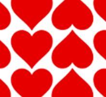 Seamless Hearts Tiles Pattern Sticker