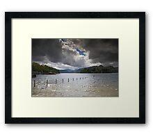 Dark Clouds Over Derwent Water Framed Print
