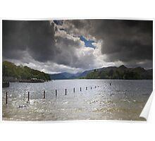 Dark Clouds Over Derwent Water Poster