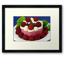 Raspberry and Cream Framed Print