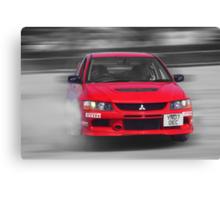 Mitsubishi EVO Burnout Canvas Print