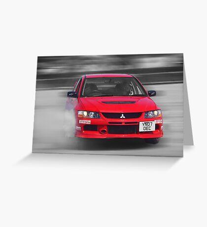Mitsubishi EVO Burnout Greeting Card