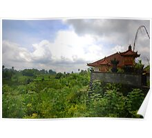 Rural house and landscape in East Bali Poster