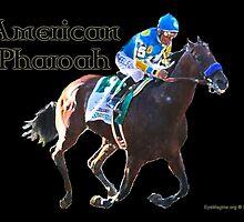 American Pharoah, Triple Crown Champion by EyeMagined