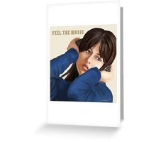 Feel the music Greeting Card