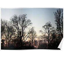 Blue Sky at dawn - Lincoln Memorial Poster