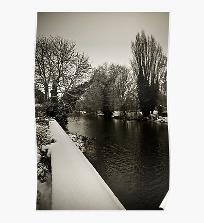 River Welland in the Snow Poster