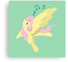 Sing Along Fluttershy Canvas Print