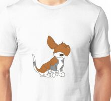 Cartoon Basset Hound Can't See  Unisex T-Shirt